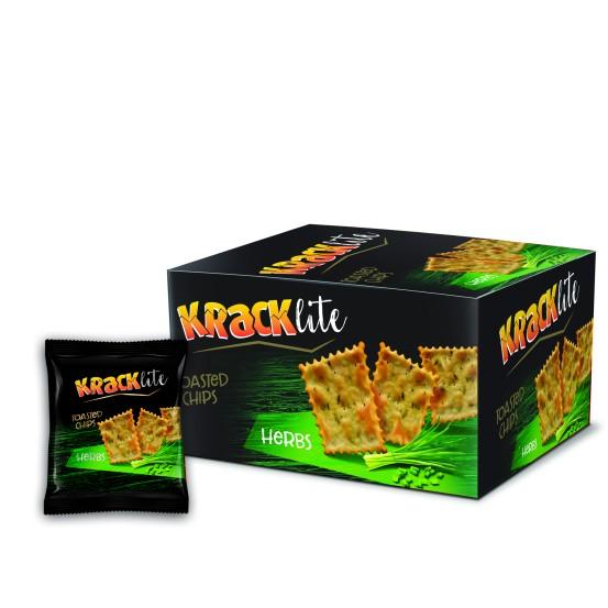 Kracklite Toasted Chips - Herbs 12x26g