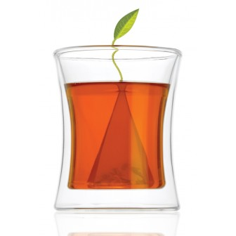 Tea Forte Poom Double-Wall Glass 10oz 1x1pc