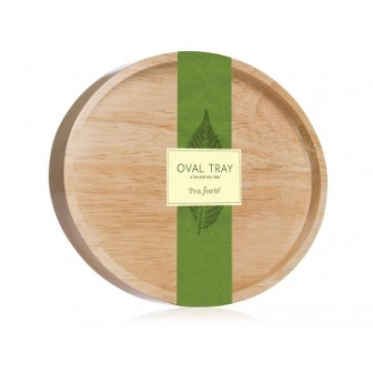 Tea Forte Wood Oval Tray 1X1pc