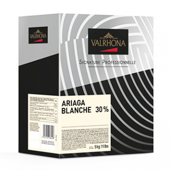 Valrhona Ariaga Blanche 30% (white Chocolates) 1X5kg