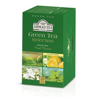 Ahmad Tea Alu T/b Green Tea Selection  1x20 Tea Bag