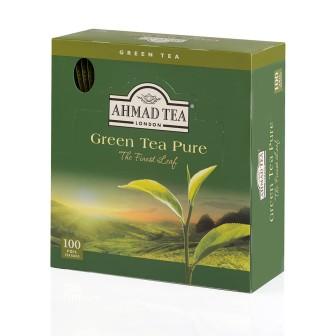 Ahmad Tea Alufoil T/b Green Tea 1x100 Tea Bag