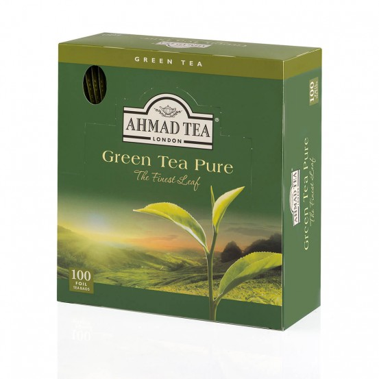 Ahmad Tea Alufoil T/b Green Tea 1x100 Tea Bag