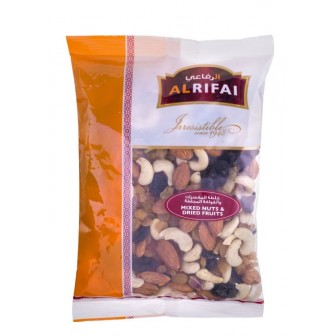Al Rifai Raw  Mix Nuts and Dried Fruits 1 X400 Gm