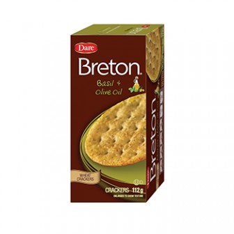 Breton Crackers Basil & Olive Oil  1x112 Gm