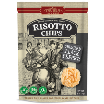 Risotto Chips - Crushed Black Pepper 1X84gm