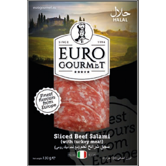 Sliced Beef Salami 1x130Gm