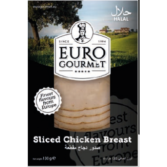 Sliced Chicken Breast 1x130Gm
