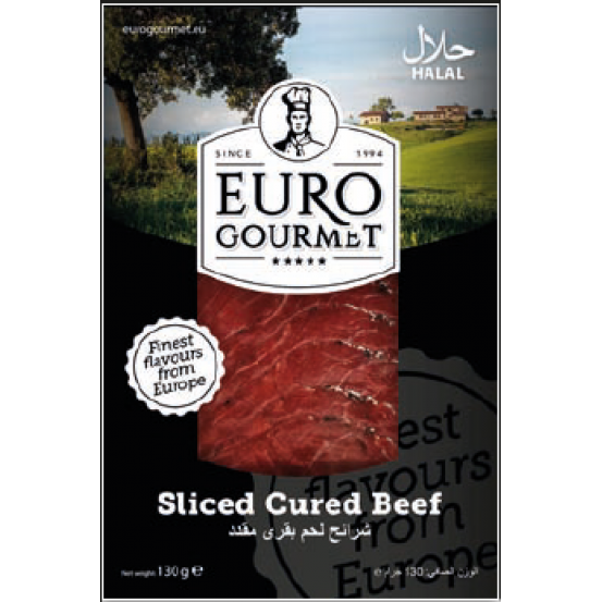 Sliced Cured Beef 1x130Gm