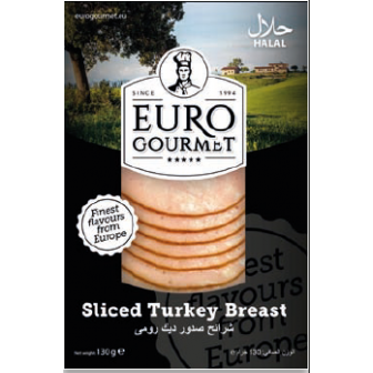 Sliced Turkey Breast 1x130Gm