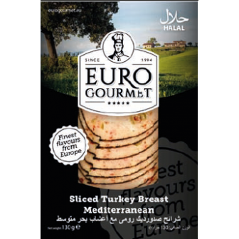 Sliced Turkey Breast Mediterranean 1x130Gm