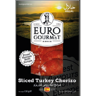 Sliced Turkey Chorizo 1x130Gm