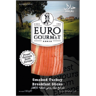 Smoked Turkey Breakfast Slices 1x130Gm
