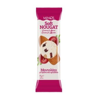 Minos Cranberry-Almond  Soft Nougat 1X60gm