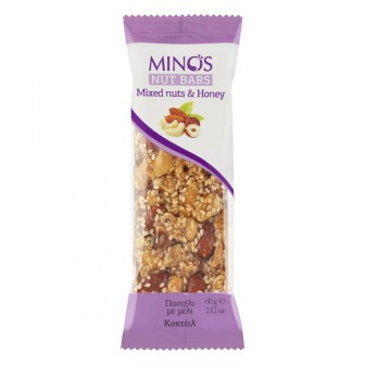 MINOS MIXED NUTS & HONEY BAR 1X60GM