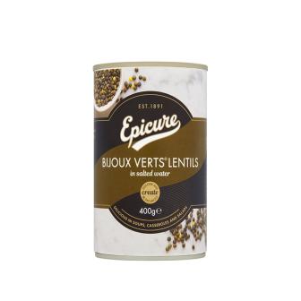 Epicure Organic Bijoux Vert's Lentils in Water 1x400Gm