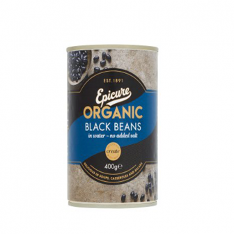 Epicure Organic Black beans in Water 1x400Gm