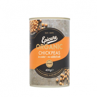 Epicure Organic Chickpeas in Water 1x400Gm