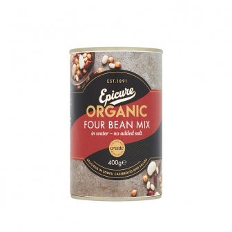Epicure Organic Four Beans mix in Water 1x400Gm