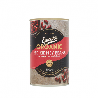 Epicure Organic Red Kidney Beans in Water 1x400Gm