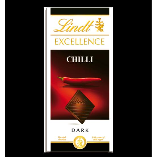 Lindt Excellence Chilli Dark 1x100gm