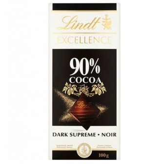 Lindt Excellence Bars Dark 90%  Cocoa 1x100gm