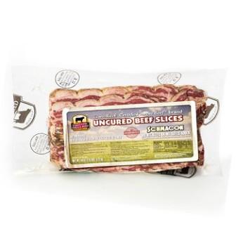 """Beef Breaskfast Bacon """"schmacon"""" (CAB)  1X340gm"""