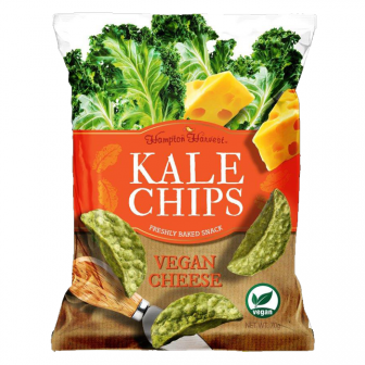 Hampton Harvest Kale Chips Vegan Cheese 1x70Gm