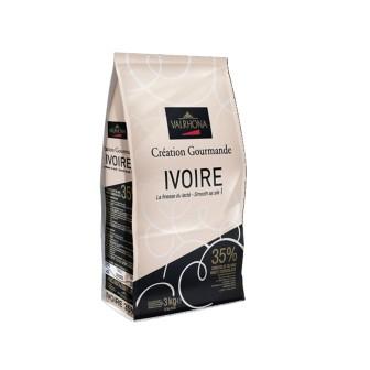 Valrhona Ivoire Blanc 35% Coins 1X3kg