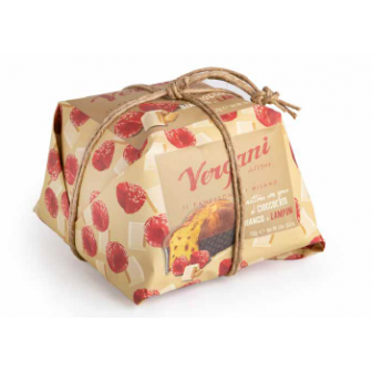 Raspberries and White chocolate Panettone 1x750Gm
