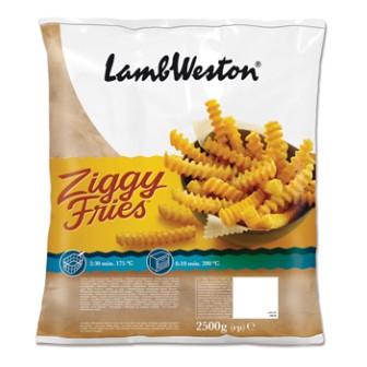 Lamb Weston Ziggy Fries 1X2.5kg