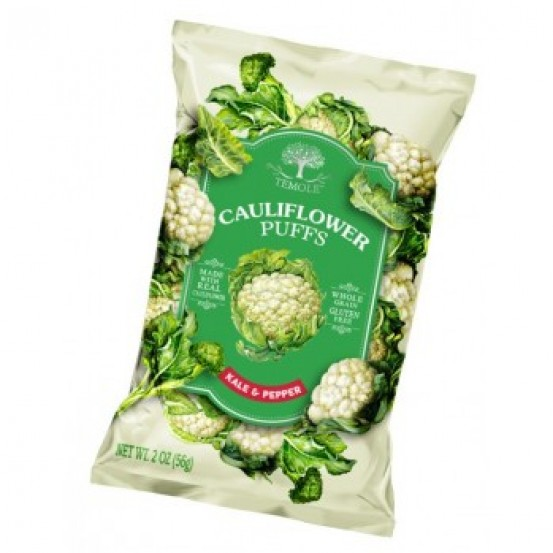Temole Cauliflower Puffs -Kale & Pepper 1X56gm
